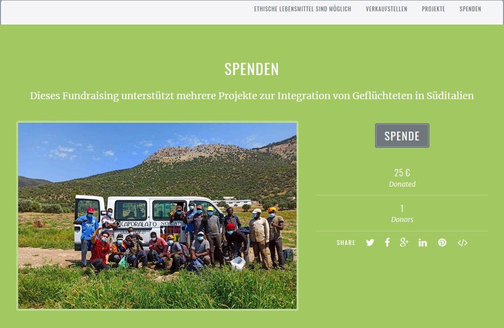 NoCap-Spendenportal mit attraktiven Dankeschöns