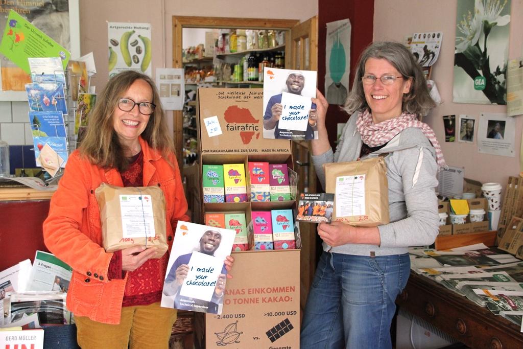 Fairafric-Schokolade jetzt auch unverpackt und plastikfrei